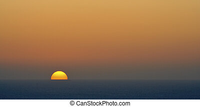 marine, levers de soleil