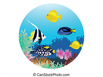 Marine life cartoon