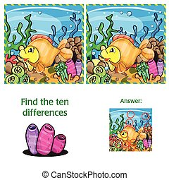 Marine life - Find ten differences