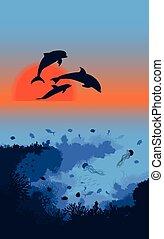 Marine Life Landscape Template