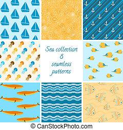 Marine patterns collection 2