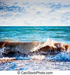 marine, pendant, sunrise., beau, naturel, été, marine