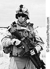 Marine pride - US marine in the MARPAT uniform and...