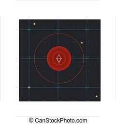marine radar background with grid coordinates