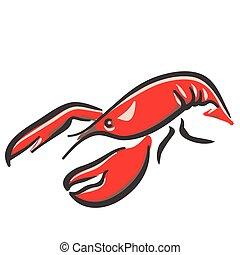 marine red lobster