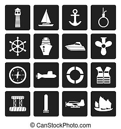 Marine, Sailing and Sea Icons