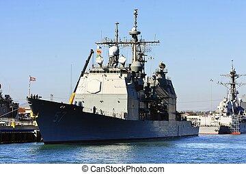 marine, schlacht, schiff, uns