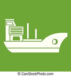 Marine ship icon green