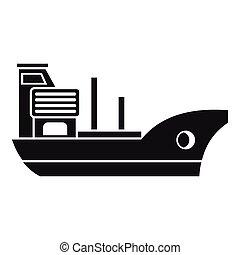 Marine ship icon, simple style