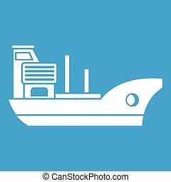Marine ship icon white