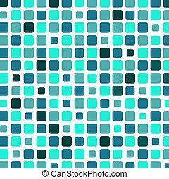 Marine square tile mosaic background