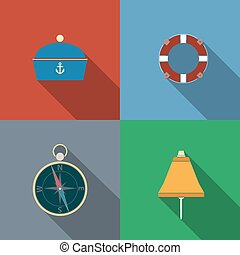 Items relating to the maritime theme in color