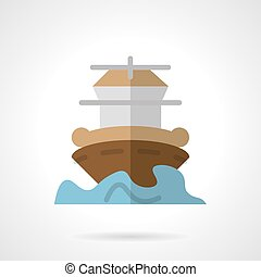 Marine vessel flat color vector icon