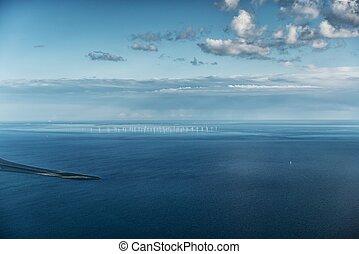 marine, vue aérienne