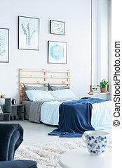 marineblau, schalfzimmer