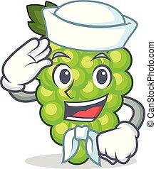 marinero, uvas verdes, carácter, caricatura