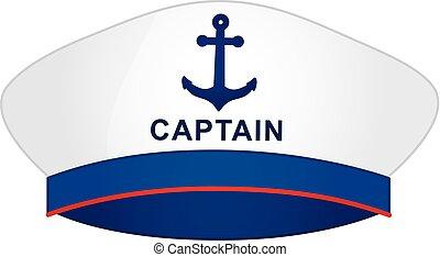marinero, vector, gorra