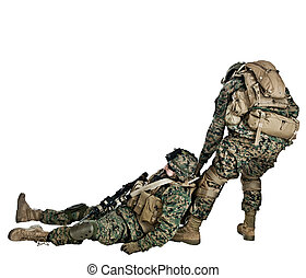 Marines - US marine came to the rescue of his injured fellow...