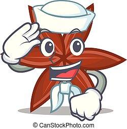 marinheiro, anis, personagem, caricatura, estilo