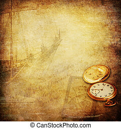 marinheiro, histórias, e, antigas, vezes, nostalgia, fundo