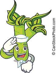 marinheiro, personagem, estilo, caricatura, wasabi