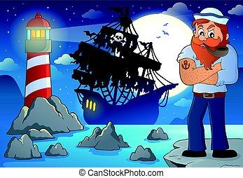 marinheiro, topic, imagem, 3