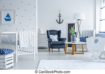 Marinistic style baby room