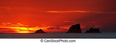 marinmålning, soluppgång