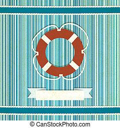 marino, strisce, vecchio, fondo