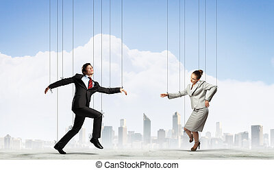 marionette, businesspeople