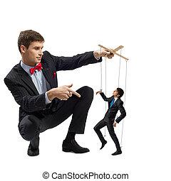 marionnette, business, marionnettiste