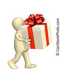 marionnette, cadeau, 3d