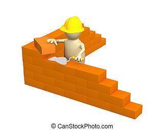 marionnette, constructeur, -, 3d