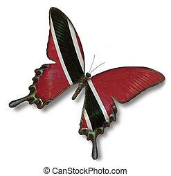 mariposa, bandera, tobago, trinidad