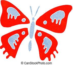 mariposa, caricatura