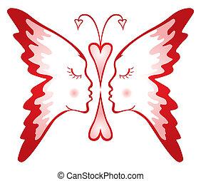mariposa, de, amor