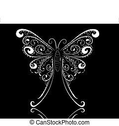 mariposa, encaje