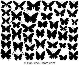 mariposa, formas