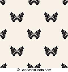 mariposa,  origami,  seamless, Plano de fondo, patrón