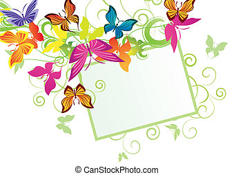 mariposas, bandera