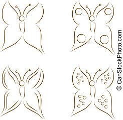 mariposas, bosquejo