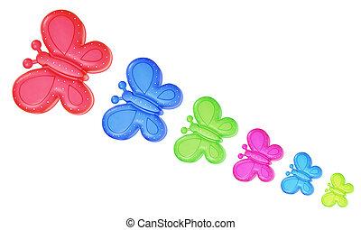 mariposas, juguete
