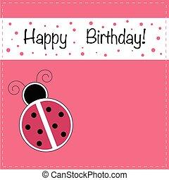 mariquita, feliz cumpleaños, invitación