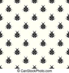 mariquita, patrón, vector, seamless