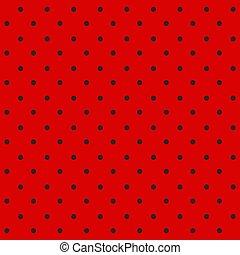 mariquita, pattern., seamless, vector