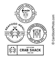 mariscos, insignia