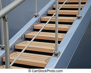Maritime Detail showing a part of a modern style gangway