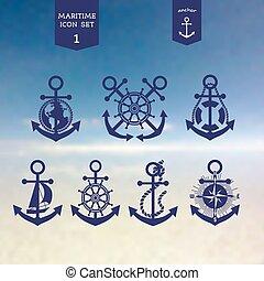 Maritime icons set