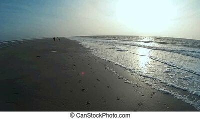 Maritime Scene on North Frisian Island Amrum in Germany