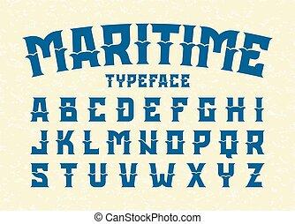 maritime, style, oeil caractère